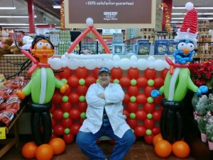 Dr Twistin in a piece created for a local Grocery Outlet!